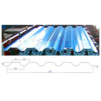 China Easy Operation Roofing Sheet Roll Forming Machine , Standing Seam Machine on sale