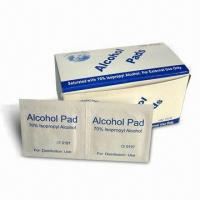 China Alcohol Pad, Available in Various Sizes factory