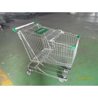 Buy cheap Asian Style 180 Liter Steel Wire Shopping Trolley With Handle Logo from Wholesalers