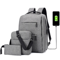China Oxford 15.6 Inch Light Set Usb Business Laptop Backpacks factory