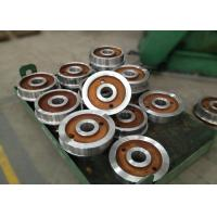 Forged polished double rim wheel for rail cart on steel rails with 800mm