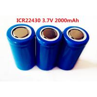 Buy cheap li-ion LIR22430 2000mAh 3.7V  rechargeable battery from Wholesalers
