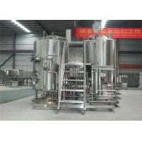 China 300L Copper / SS Commercial Beer Brewing Equipment With Beautiful Mash System factory