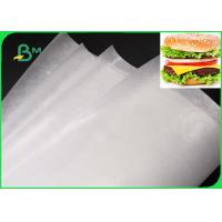 Buy cheap Eco Friendly Greaseproof Newsprint Paper Roll Oil Resistant 35GSM For Fast Food Wrapping from Wholesalers