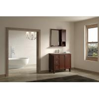 Eco-friendly,waterproof solid wood Bathroom furniture vanity with mirror storage in brown