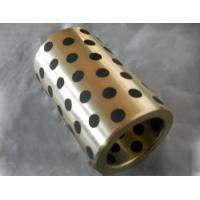 China CuZn25Al5 Bronze bushing with graphite MOS2 bearings with solid lubricant embedded factory