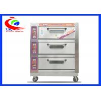 China Commercial Baking Equipment / Commercial pie baking machine 3 decks 9 trays electric pizza oven with wheel factory