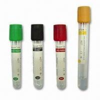 China Vacuum Blood Test Tubes, Includes Heparin, Oxalate and EDTA Tubes are Also Available factory
