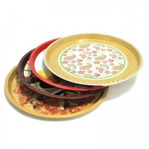 China custom metal round fruit tin trays factory