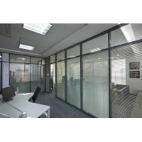 China Soundproof Aluminum Glass Office Partitions Fire Prevention 2.5mm Wall Thickness factory