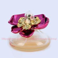 30ml Cone Glass (bottom colored) Perfume Bottle Packaging with UV Plastic Cap and FEA 15mm gold Perfume Pump/collar