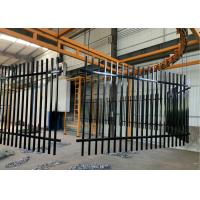 China Waterproof Steel Tube Fence Eco-friendly Powder coated Wrought Iron Fence on sale
