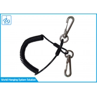 China Multicolor Theft Proof Spring Coil Cord Keychain / Safety Fishing Ropes factory