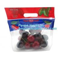 China Food service grape packing bag with slider/Red grapes packing bag/Plastic fruit bag, bag for fruit and vegetable package factory