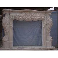 Buy cheap Marble Fireplace Flowers Design from Wholesalers