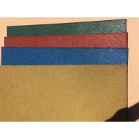 China Wear Resistant Outdoor Rubber Mats , Safe - Play Rubber Playground Tiles factory