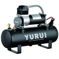 China 12V 150PSI Air Source Kits Onboard Air Systems 1.5 Gallon Tanks Black Metal For Fast Inflation factory