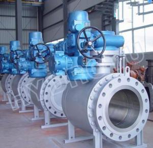 China DN 50 - 1000 mm Motorized Flanged Globe Valve / Spherical Valve for high head hydro turbine on sale