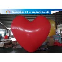China Party Big Red Love Heart Inflatable Model PVC Helium Balloon Airtight factory