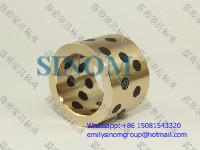 China Oilless Bush,Bronze of Solid Lubricants,Graphite inlaid Oiles Bronze Bushing factory