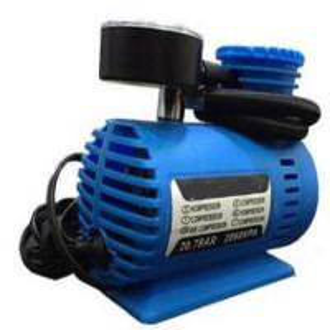 China Blue Plastic 250 Psi 12v Air Compressor With Cigarette Lighter Plug factory