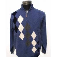 China Men's High Collar and Half-zipped Cashmere Sweater on sale