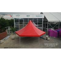 Quality 80 People Aluminum Frame 10m Hexagonal Wedding Party Tent With Glass Walls Lining Curtain wholesale