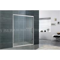 China Straight One Sliding Glass Shower Screen With Round Handle EN14428 Certification on sale