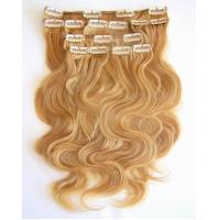 Quality pure human remy clip in hair extensions wholesale