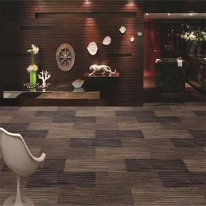 China Rectangular shape Aquafil nylon 6 yarn carpet tile on sale