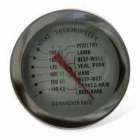 China Meat Thermometer with Stainless Steel Cast and Glass Type Lens factory