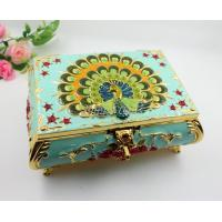 Shinny Gifts Small Ring Jewelry Box Glass Cover Ring Storage Box Stud Earring Box