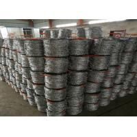 Buy cheap 12 # * 14 # Diameter  Hot Dip Galvanized Barbed Wire With Stab For Protection Fence from Wholesalers
