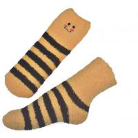 Buy cheap Yellow Smile pattern mens aloe socks Polyester plush therapy 19x13x8.5 cm from Wholesalers