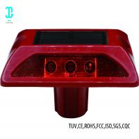 China Plastic Cat Eye Solar Road Studs Light  Red 8000mcd For Drivingway 3 Year Warranty factory