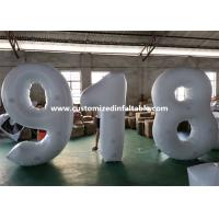 China European Standard White PVC Inflatable Advertising Number Display Figure Balloon factory