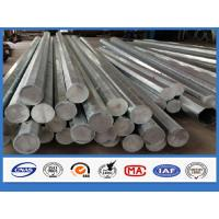 Round Column 40FT 12m Overhead Line Galvanized Steel Pole penetration over 95%