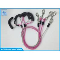 China Steel Suspension Pet Traction Rope , Bite Proof Durable Dog Tie Out Cable factory