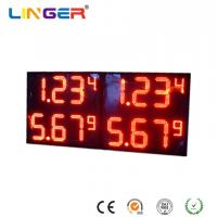China Red Digits Color Professional Led Price Display , Electronic Gas Price Signs X 4 Rows factory