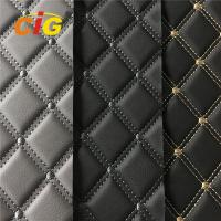 Buy cheap High Quality Car Seat Car Floor Embroidery PVC leather with High Density Foam from wholesalers