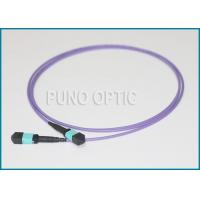 Buy cheap SMF Indoor MPO Fiber Optic Cable , MultiFibre Pre Terminated Violet Patch Cord from Wholesalers