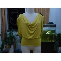 Buy cheap Cosy Mustard Womens Fashion Tops Plus Size Drape Neck Tops With Sleeves from Wholesalers