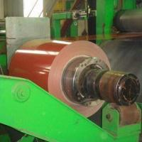 China Prepainted steel coil, covered with film factory