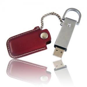 China Profession OEM 2.0 leather usb flash drive factory