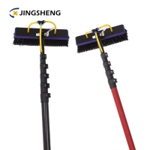 China Processing Fiberglass 50% Glossy Telescopic Window Cleaning Brush Pole factory