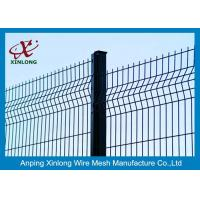 China Pvc Coated Welded Wire Fence Panels Galvanized Mesh Fencing Powder Coated Fence on sale