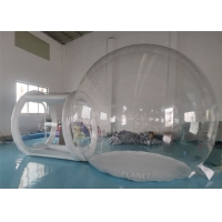 China 4m Diameter Big Transparent Camping Clear Inflatable Advertising Dome Bubble Tent With Tunnel factory