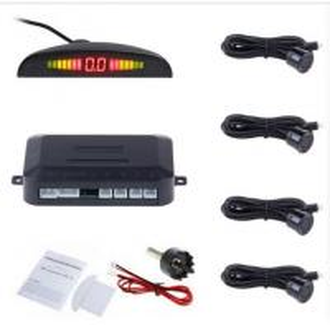 China Car Auto Parktronic LED Parking Sensor With 4 Sensors Reverse Backup Car Parking Radar factory