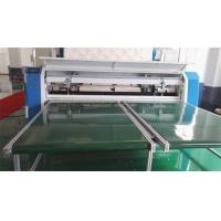 7 Inch Touch Screen Quilted Fabric Mattress Cutting Machine 80Mm Thickness