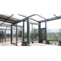 China High End Garden Aluminum Sun Room , Powder Coated Aluminium Glass House factory